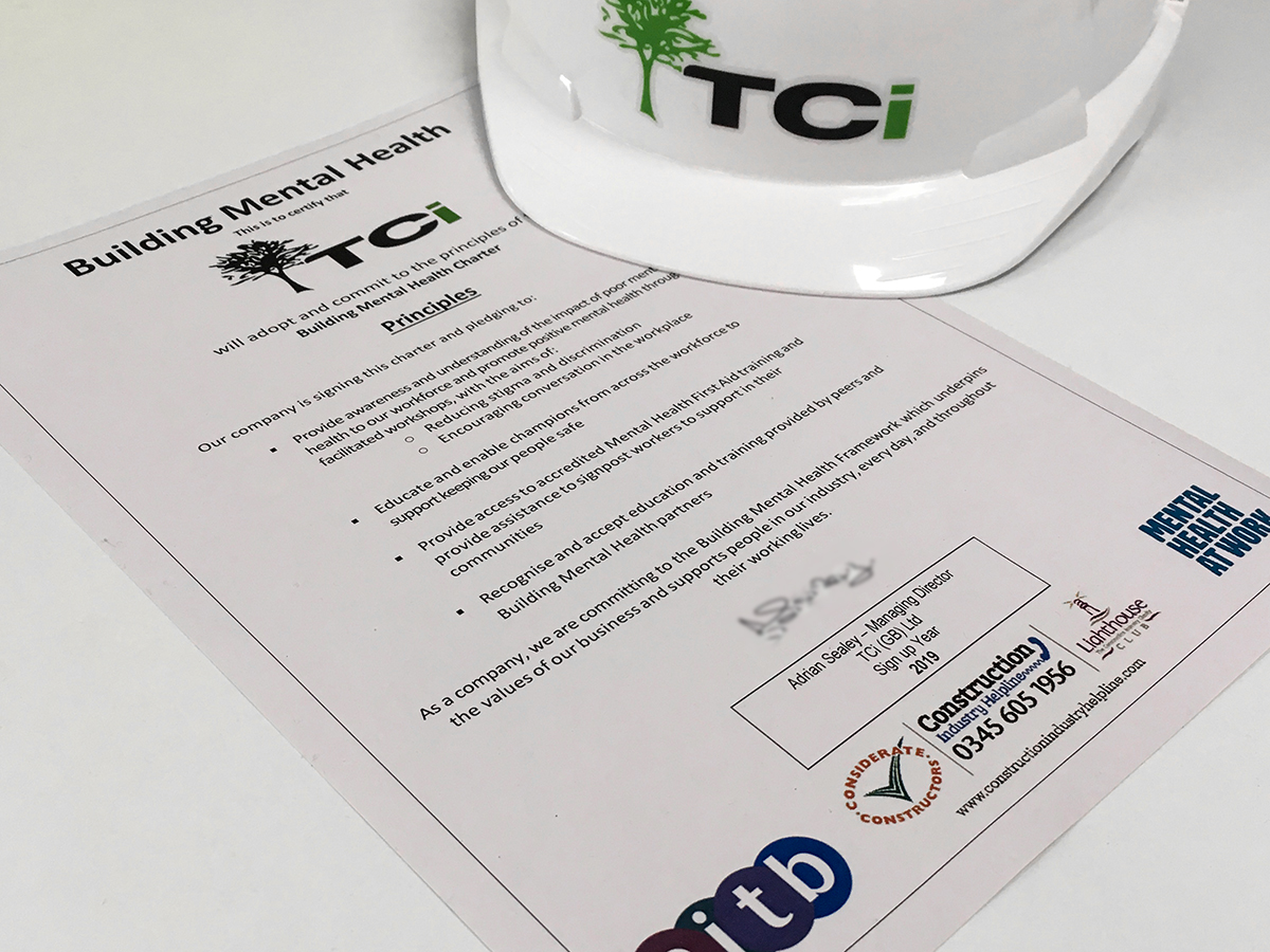 TCi Signs Mental Health Charter