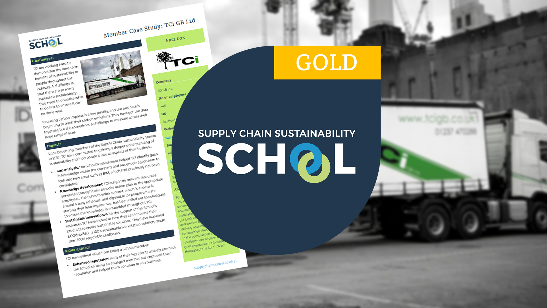 Achieving GOLD with Supply Chain Sustainability School