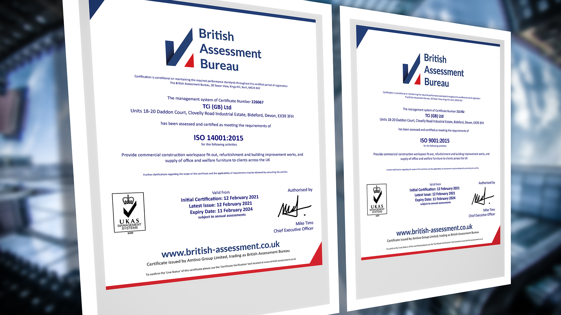 UKAS ISO 9001 & 14001 Standards
