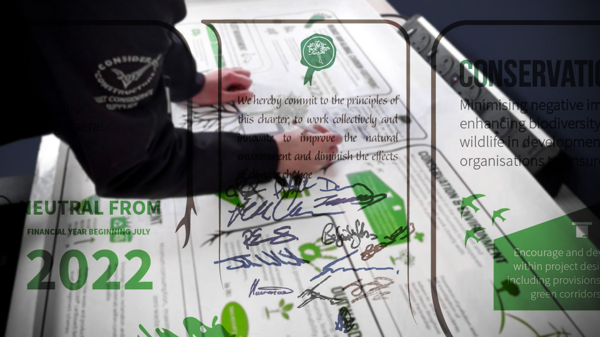 TCi Sustainability Charter commitments signed!