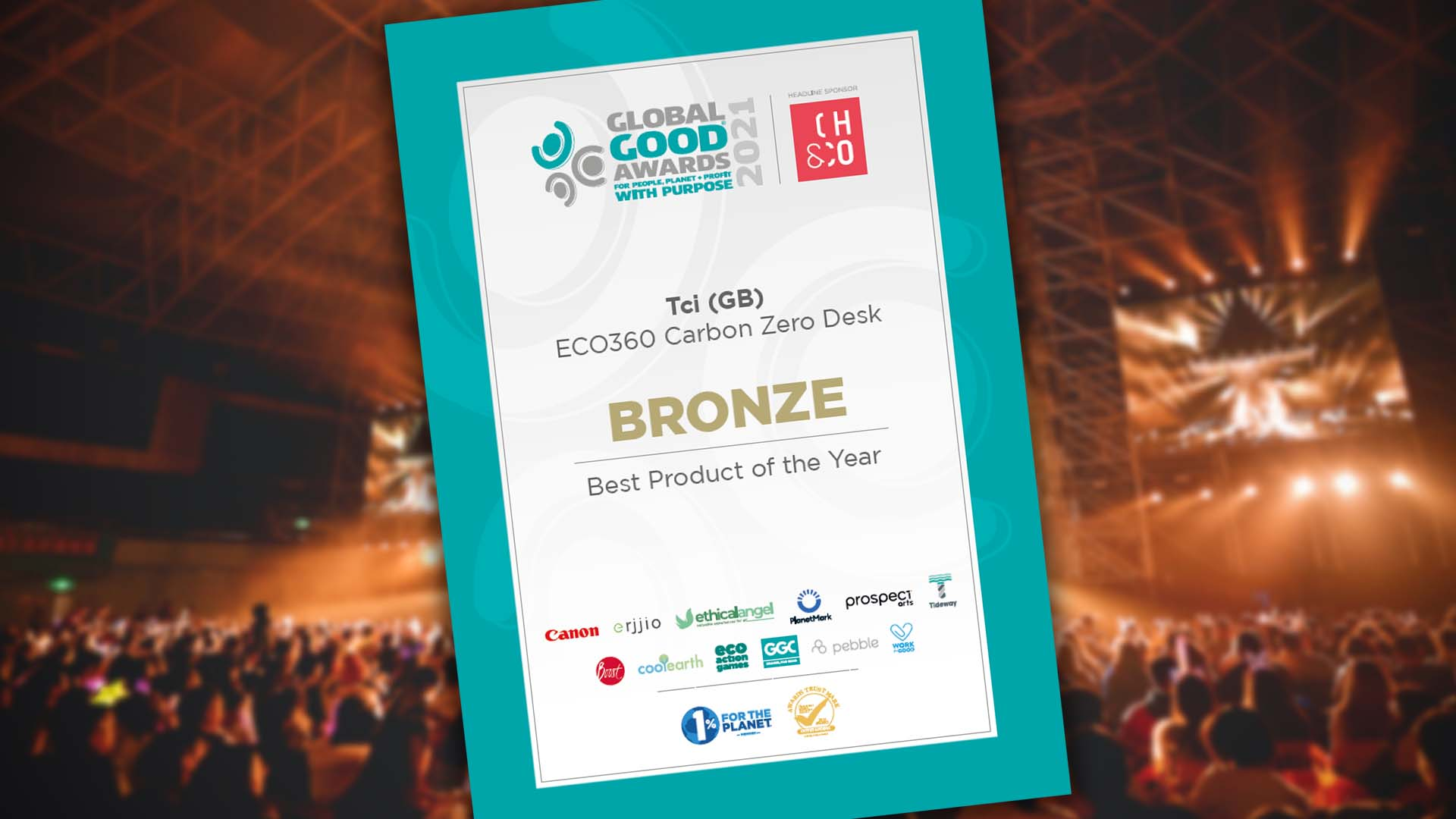 ECO360® wins bronze at the Global Good Awards